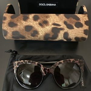 Dolce & Gabbana Cheetah Sunglasses - like new